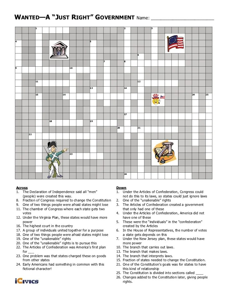 Wanted A Just Right Government Crossword : wanted, right, government, crossword, Wanted, Right, Government, Worksheet, Spreadsheet