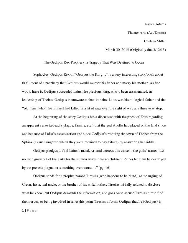 Essays On Oedipus The King Essays Oedipus The King Oedipus Rex Term