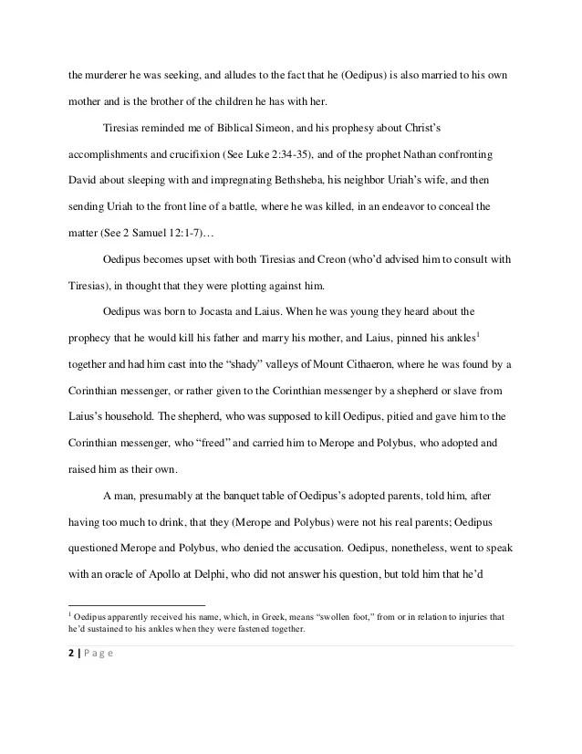 Oedipus The King Essay Oedipus The King Essay Essay Essay On Oedipus