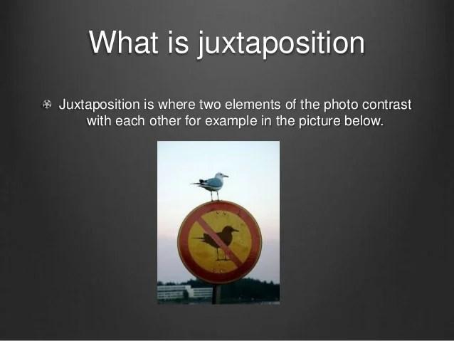 JUXTAPOSITION EXAMPLES  alisen berde