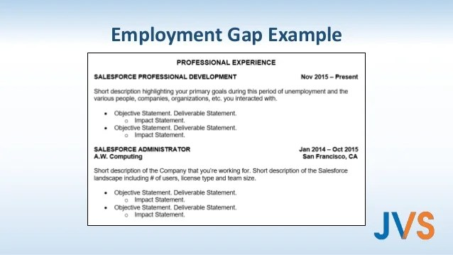 resume examples with gaps in employment