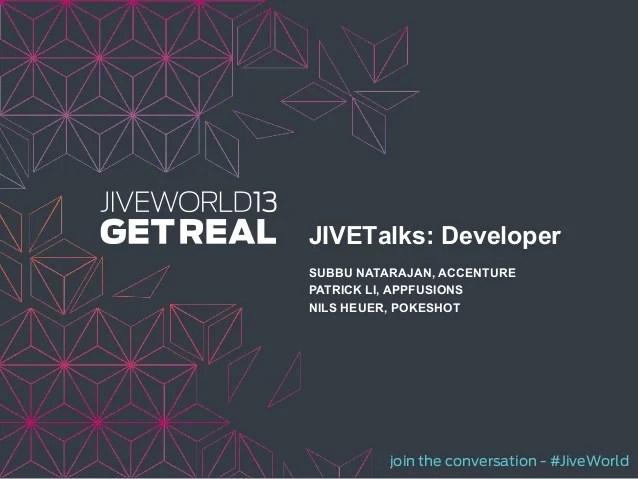 Jw13 developerjive talkspresentation