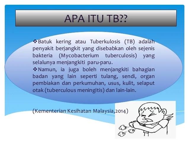 Tuberculosis Tb Batuk Kering Komunikasi Kesihatan