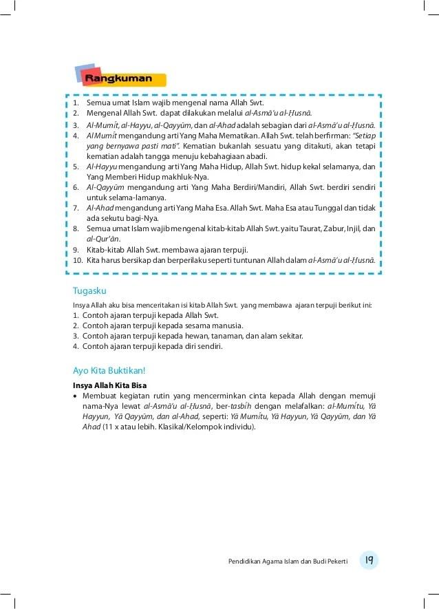 Contoh Soal UAS/PAS Pelajaran PAI Kelas 3 SD Tahun Ajaran