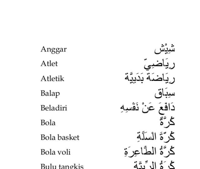 Ular Ulat Unggas Unta Olahraga Kamus Praktis Bahasa Arab
