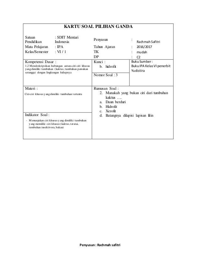 Contoh Soal Hots Sd Kelas 5 : contoh, kelas, Contoh, Kelas, Pengetahuan