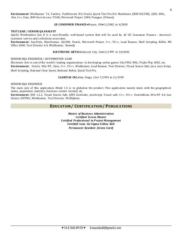 sample resume multithreading