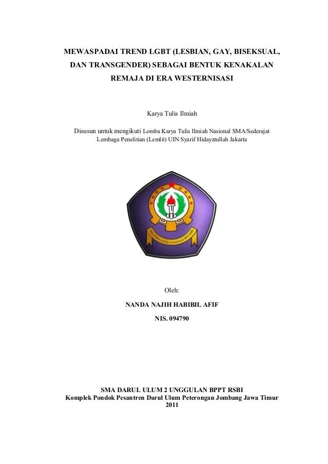 Contoh Halaman Judul Karya Ilmiah Contoh Aja Cute766