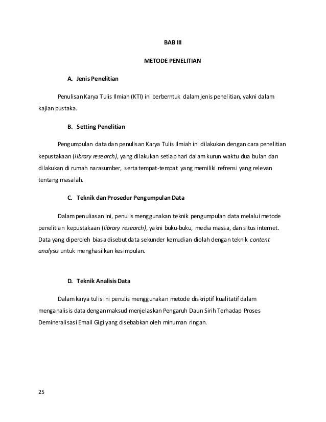 Contoh Metode Penelitian Karya Ilmiah Aneka Macam Contoh Cute766