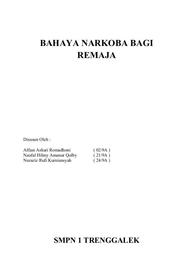Karya Ilmiah Narkoba : karya, ilmiah, narkoba, Karya, Tulis, Bahaya, Narkoba, Remaja