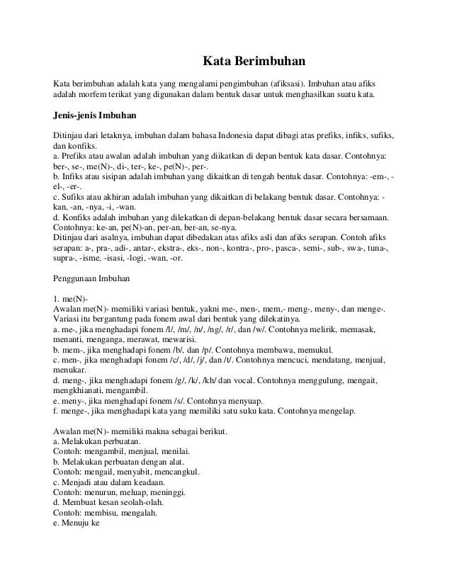 Contoh Kalimat Afiksasi : contoh, kalimat, afiksasi, Berimbuhan, (materi
