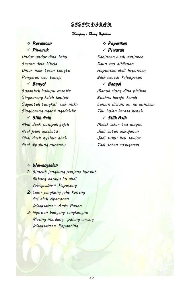 Sisindiran Bahasa Sunda : sisindiran, bahasa, sunda, Contoh, Pantun, Wawangsalan, Materi, Pelajaran