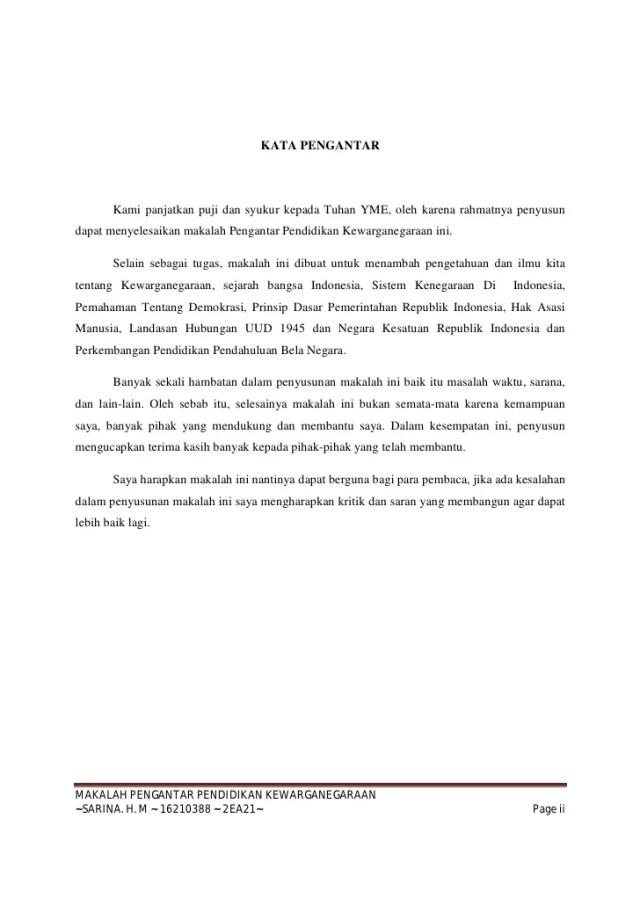 Contoh Kata Pengantar Dalam Makalah Sejarah Vinny Oleo Vegetal Info