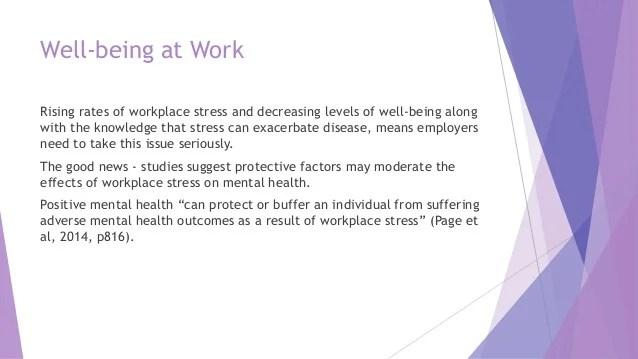 Wellbeing Promoting Mental Health at Work Katherine Winlaw