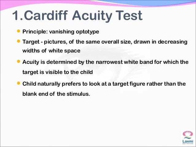 also assesment of visual acuity in children rh slideshare