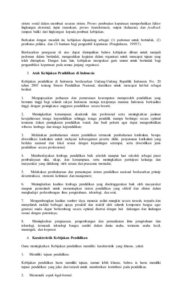 Contoh Kebijakan Sekolah : contoh, kebijakan, sekolah, Kebijakan, Pendidikan, Indonesia