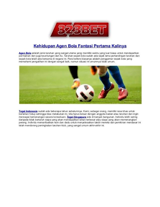 Lama Pertandingan Sepak Bola : pertandingan, sepak, Kehidupan, Bola_fantasi_pertama_kalinya