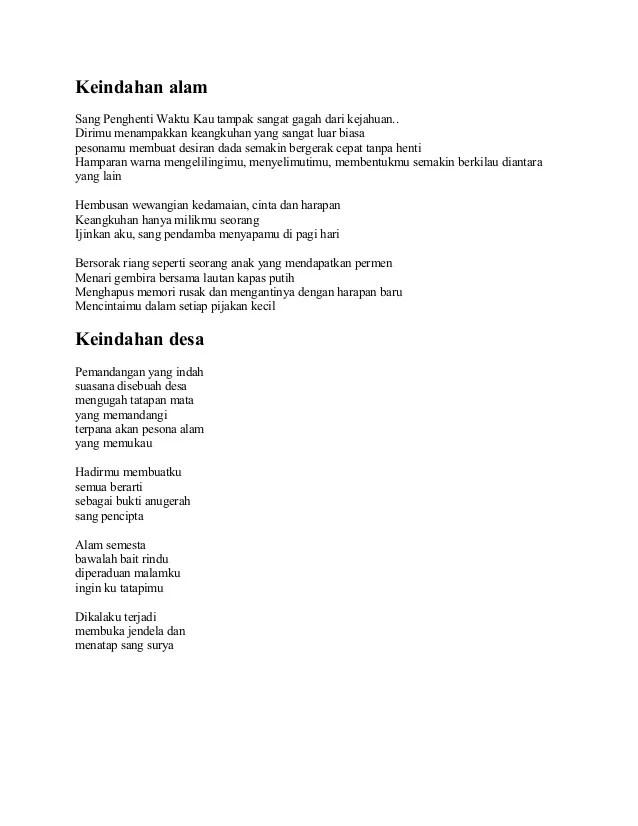 Puisi Tentang Keindahan Alam : puisi, tentang, keindahan, Keindahan