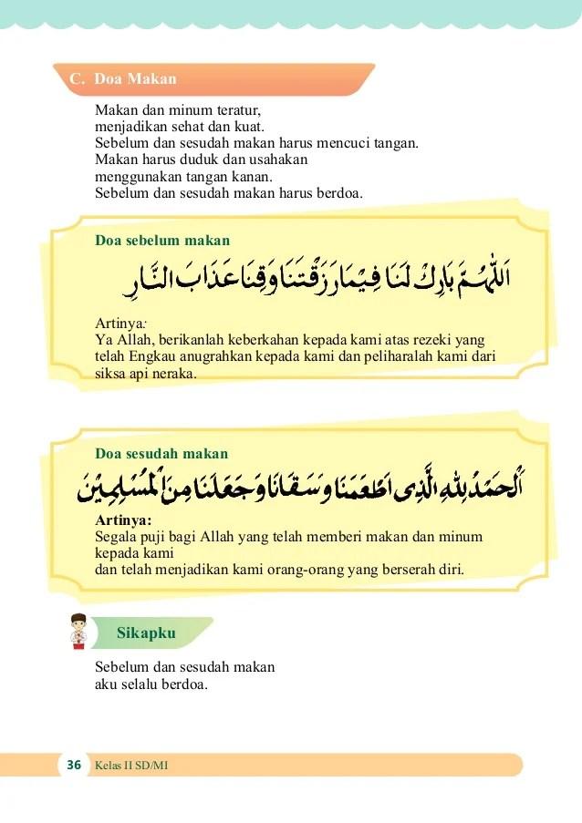 Membaca Doa sebelum Makan sesuai Sunnah Lengkap (Arab