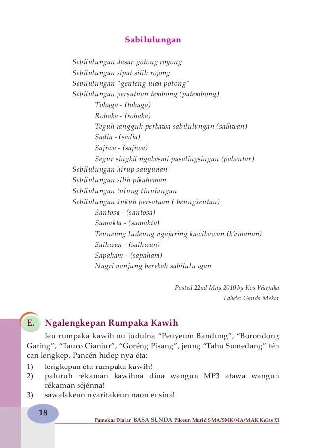 Lirik Lagu Sabilulungan : lirik, sabilulungan, Angka, Mojang, Priangan, Sunda, Koleksi