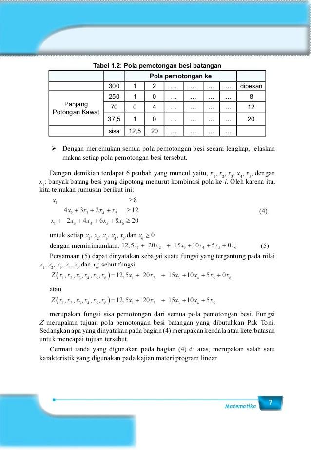Kunci Jawaban Soal Latihan Program Linier Sma Kelas Xi : kunci, jawaban, latihan, program, linier, kelas, Matematika, Kelas, Program, Linear, Cute766