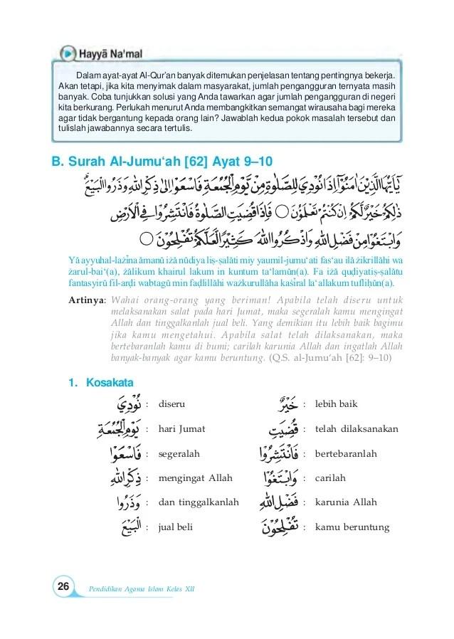 Kandungan Surah Al Jumu Ah Ayat 9 10 : kandungan, surah, Kelas12, Pendidikan, Agama_islam_1182