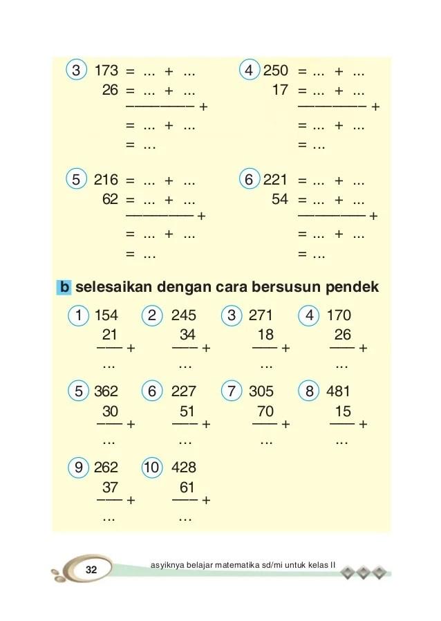 Siswa kelas 1 dan 2 sekolah dasar masih awam terhadap angka atau bilangan asli, belum mengerti apa itu bangun datar sederhana, bagaimana menghitung hasil. Asyiknya Belajar Matematika Untuk Kelas Ii Sd Mi
