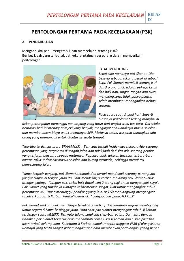 Tujuan P3k Adalah : tujuan, adalah, Kelas, Materi, Penjasorkes