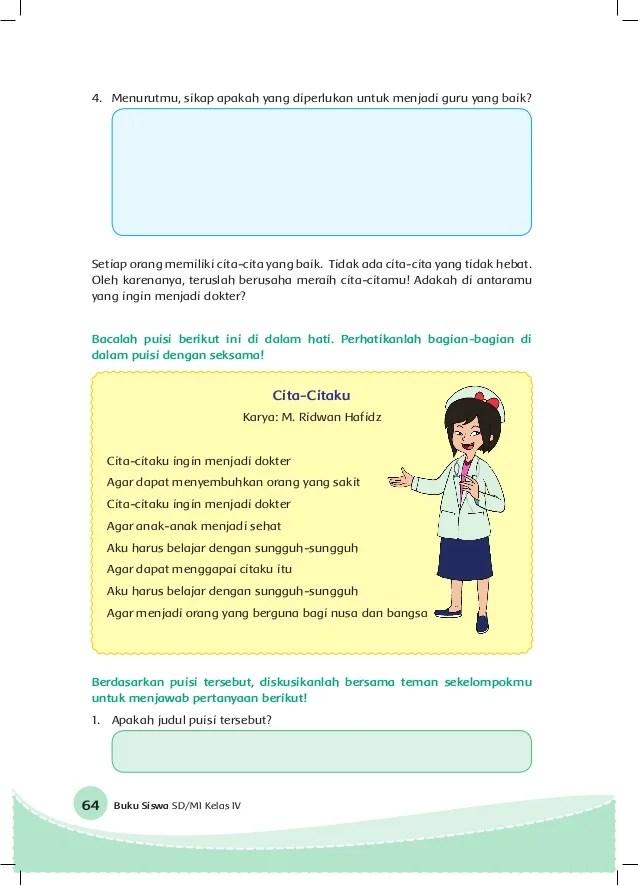 Puisi Anak Tentang Cita Cita : puisi, tentang, Contoh, Materi, Pelajaran, Pantun, Menjadi, Dokter