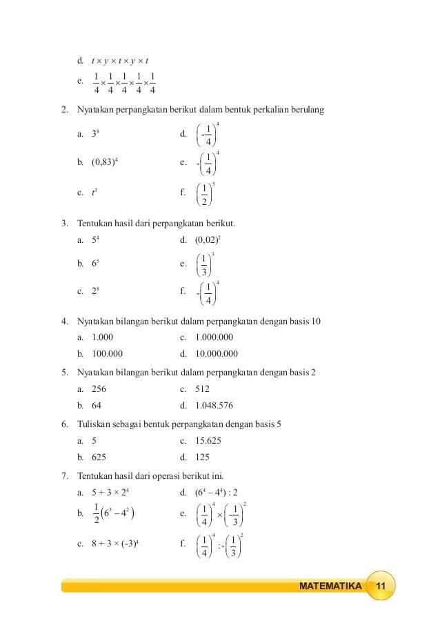 Nyatakan Perpangkatan Dalam Bentuk Perkalian Berulang : nyatakan, perpangkatan, dalam, bentuk, perkalian, berulang, Kelas, Matematika, Semester