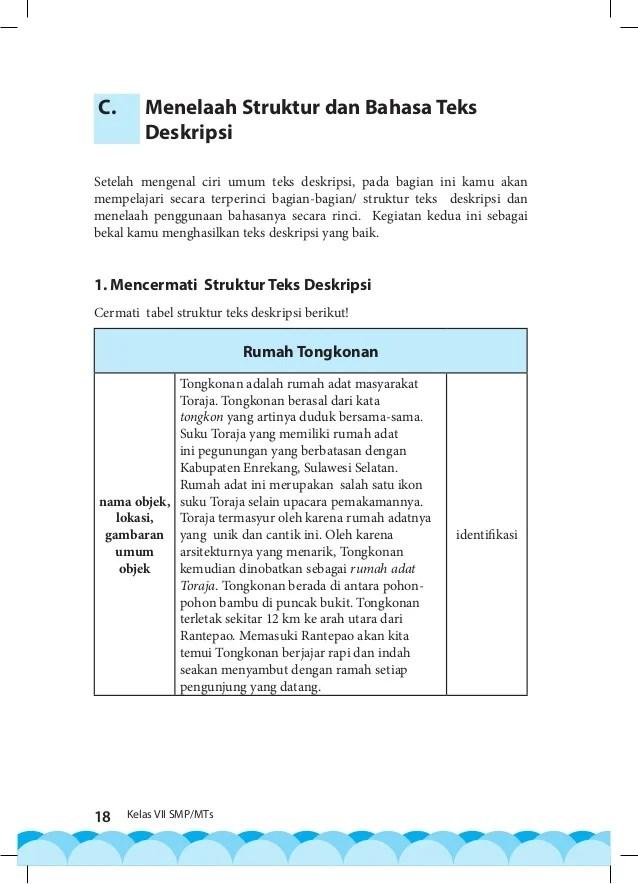 Ciri Bagian Identifikasi Pada Struktur Teks Deskripsi : bagian, identifikasi, struktur, deskripsi, Bagian, Struktur, Deskripsi