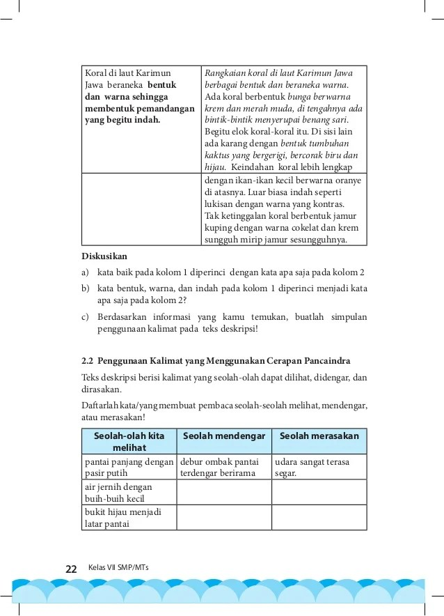 Kata Baik Pada Kolom 1 Diperinci Dengan Kata Apa Saja Pada Kolom 2 : kolom, diperinci, dengan, Bahasa, Indonesia, Kelas