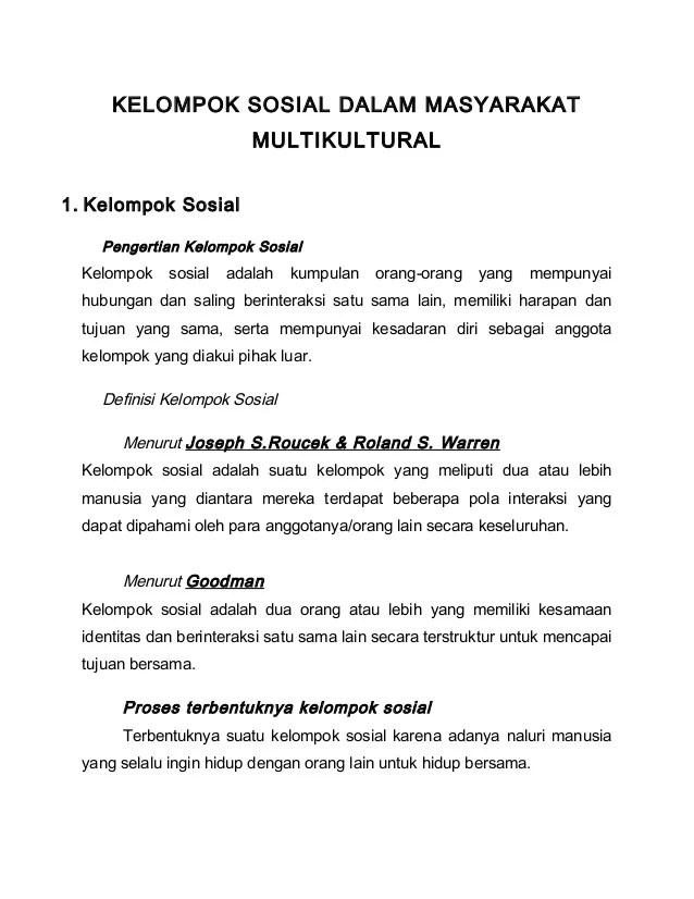 Contoh Kelompok Formal : contoh, kelompok, formal, Kelompok, Sosial, Dalam, Masyarakat, Multikultural