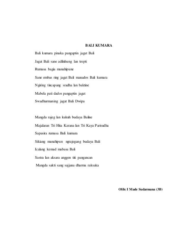Puisi Bahasa Bali : puisi, bahasa, Puisi, Bahasa, Tentang, Keluarga, Kumpulan, Nusantara, Cute766
