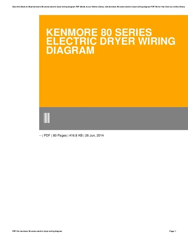 Wiring Diagram For Kenmore Dryer 3387747