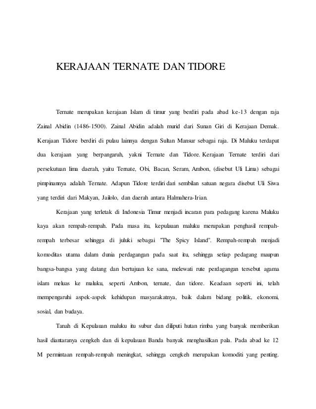 Kehidupan Politik Kerajaan Tidore : kehidupan, politik, kerajaan, tidore, Kerajaan, Ternate, Tidore