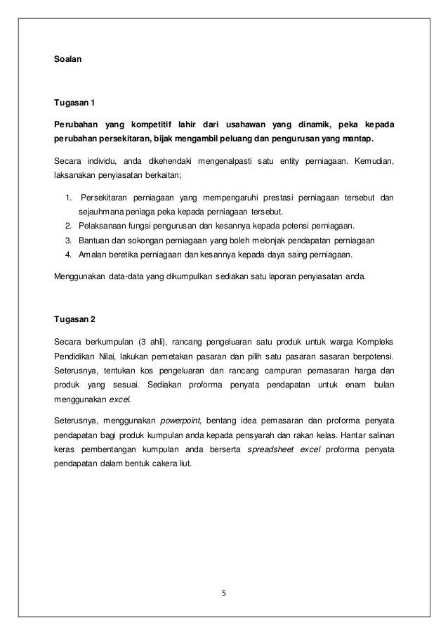 Contoh Kerja Kursus Perniagaan Tingkatan 4 Cute766