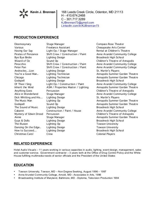 sample resume for website manager
