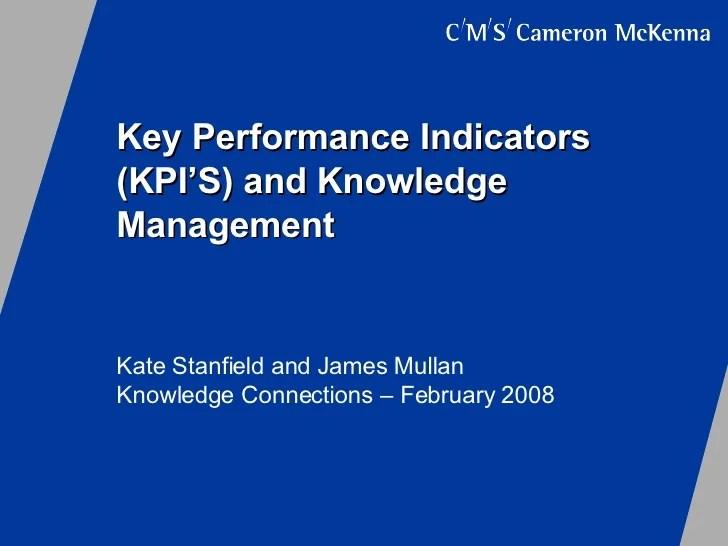 Key Performance Indicators And Knowledge Management