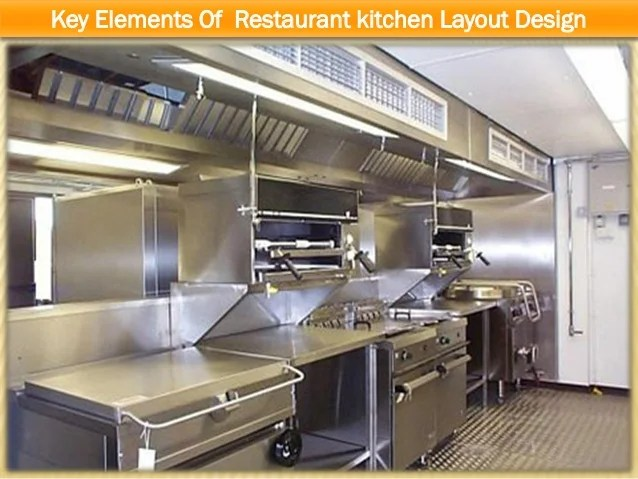 Key elements of restaurant kitchen layout design