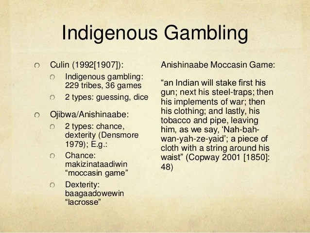 The Meaning Of Indigenous Casinos An Anishinaabe Perspective