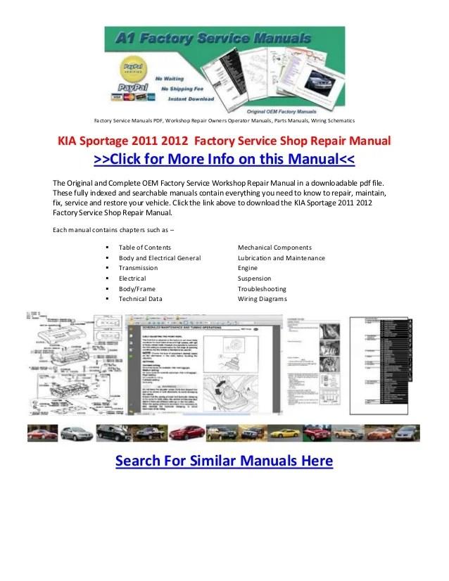 Workshop Manual Sportage Kia