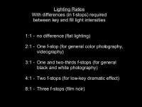Lighting: kinds of lights