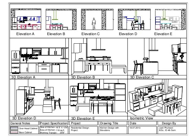 Kitchen 3d Elevations Layout1 Jyoti Fulwani B Sc Interior Design