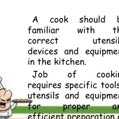 Kitchen Equipment List Aid Ksm Use And Maintain Tools Cooking Utensils That Every Needs