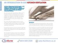 Kitchen canopy ventilation system
