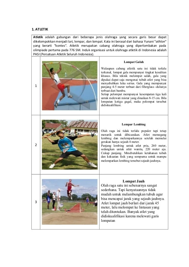 7 Macam Olahraga Atletik Beserta Pengertian dan Sejarahnya