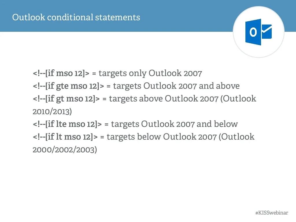 Outlook Conditional Statements Kisswebinar