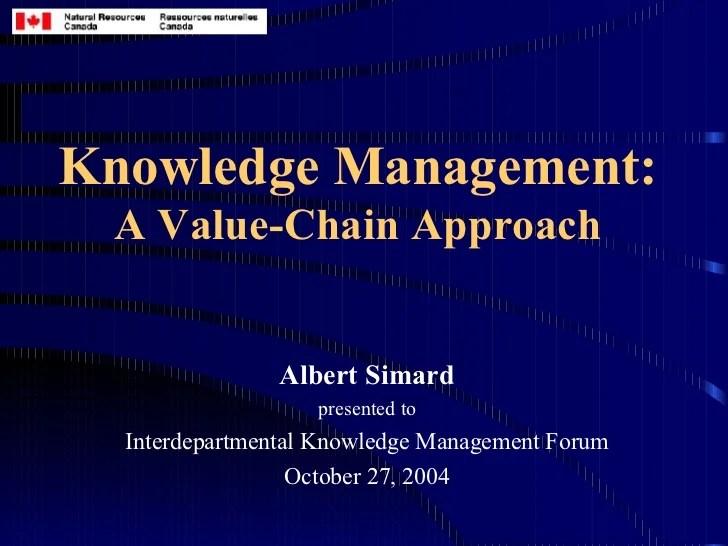 Knowledge Management Value Chains