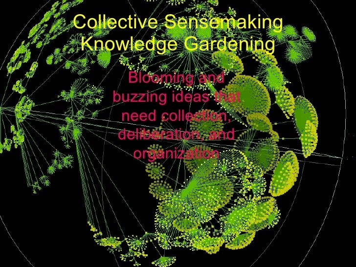 Knowledge gardening for collective sensemaking (credits: Jack Park)